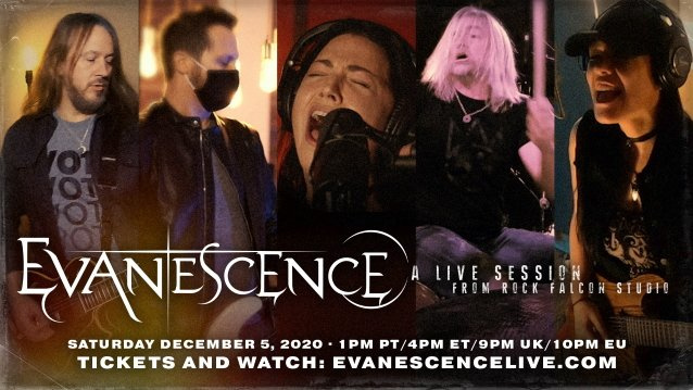EVANESCENCE Announces Livestream Event, 'A Live Session From Rock Falcon Studio'