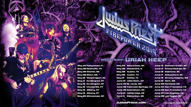 JUDAS PRIEST Brings Out Rarities, Never-Before-Performed Songs At 2019 North American Tour Opener (Video)