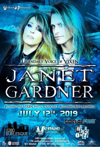 Ex-VIXEN Singer JANET GARDNER Performs In Denver (Video)