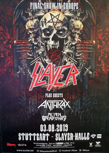 SLAYER Plays Last-Ever Show In Europe