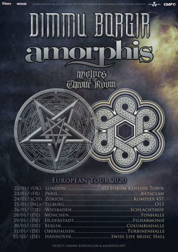 DIMMU BORGIR And AMORPHIS Announce January/February 2020 European Co-Headline Tour