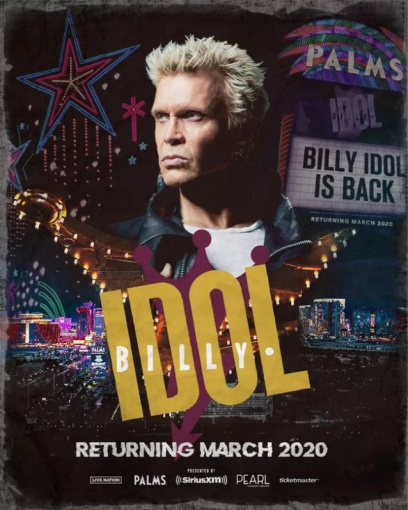 BILLY IDOL To Continue His Las Vegas Residency In March 2020