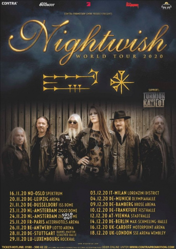 NIGHTWISH Announces Fall 2020 European Headlining Tour