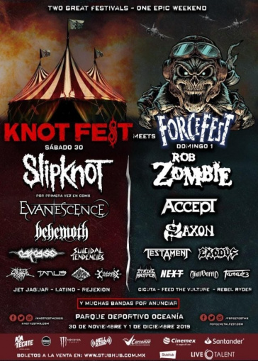 SLIPKNOT And EVANESCENCE Forced To Cancel Performances At KNOTFEST MEETS FORCEFEST Due To Broken Stage Barricade