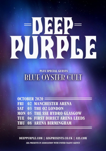 DEEP PURPLE Completes New Album, Announces U.K. Tour With BLUE ?YSTER CULT