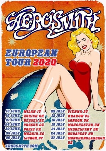 AEROSMITH Announces Summer 2020 European Tour