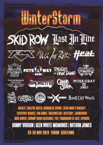 Watch SKID ROW Perform At Scotland's WINTERSTORM Festival