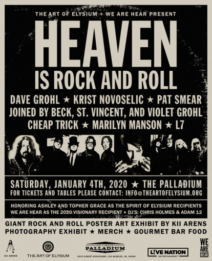 Surviving NIRVANA Members To Reunite At THE ART OF ELYSIUM's 'Heaven' Gala