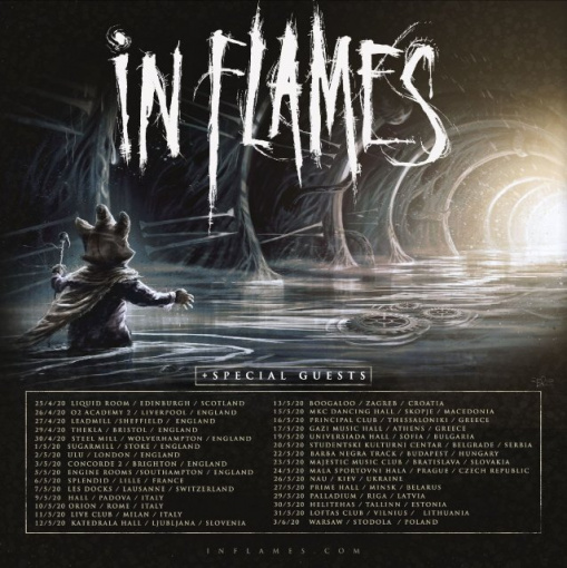 IN FLAMES Announces Spring 2020 European Tour