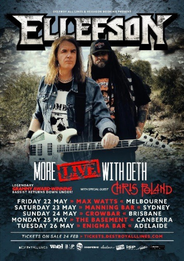 MEGADETH Bandmates DAVID ELLEFSON And CHRIS POLAND To Tour Australia Together In May