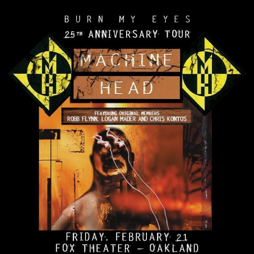 MACHINE HEAD Brings 'Burn My Eyes' 25th-Anniversary Tour To San Francisco Bay Area: Pro-Shot Video Of Entire Concert