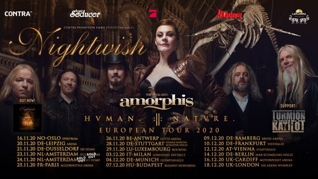 NIGHTWISH Taps AMORPHIS And TURMION K?TIL?T As Support For Fall 2020 European Tour