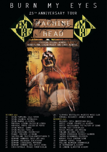 MACHINE HEAD Announces Fall 2020 European Tour Dates