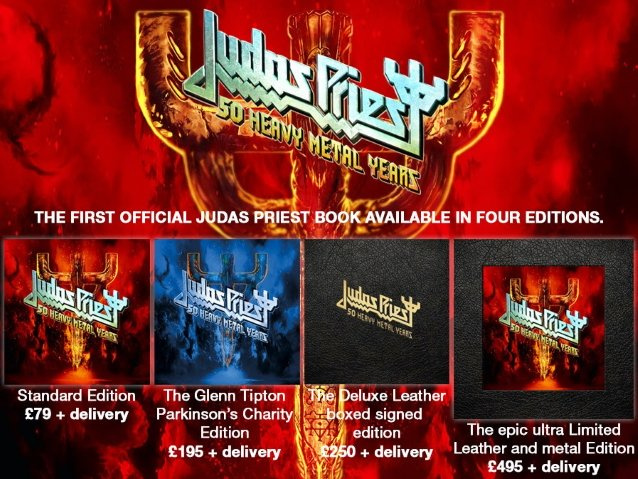 JUDAS PRIEST Announces First Official Book, '50 Heavy Metal Years'